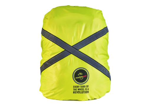 Hi Vis Backpack Bag Cover Yellow Day