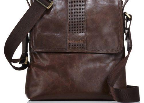 Handmade Leather Tablet Messenger Bag – Dark Brown 38faca5b79936