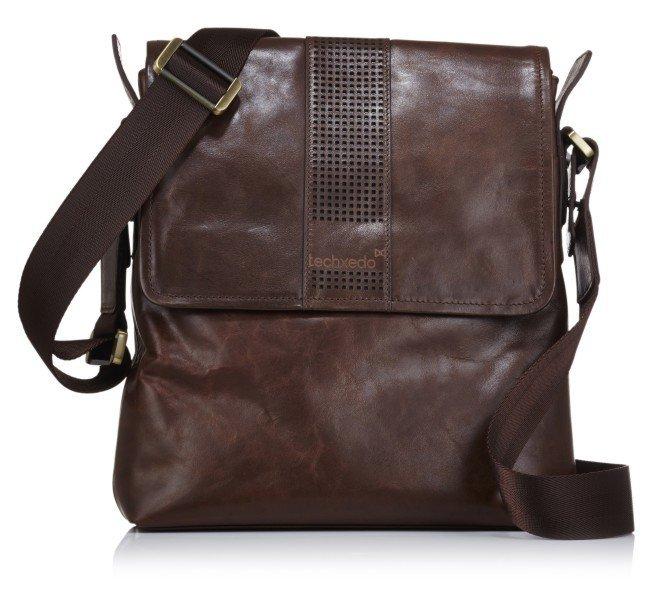 Handmade Leather Tablet Messenger Bag - Dark Brown - Nixeycles  a24521fb6abdb