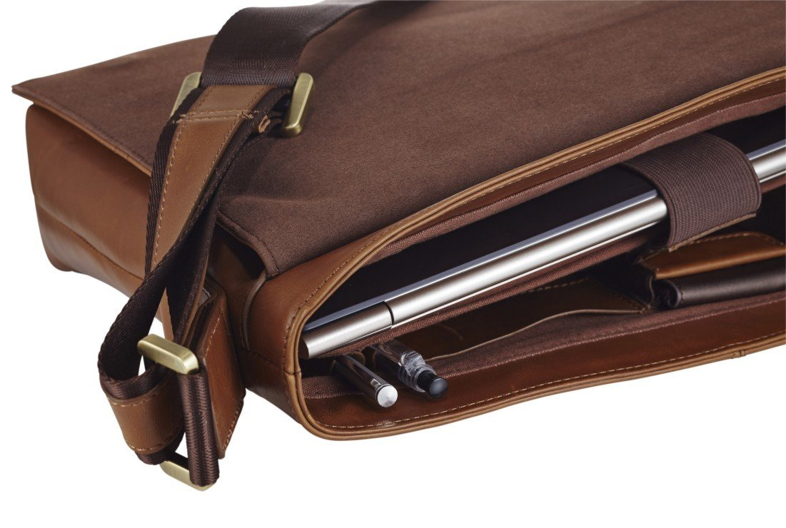 Handmade Leather Laptop Messenger Bag - Nixeycles  59bff32d07b7a